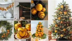 Χριστουγεννιάτικη διακόσμηση με πορτοκάλια