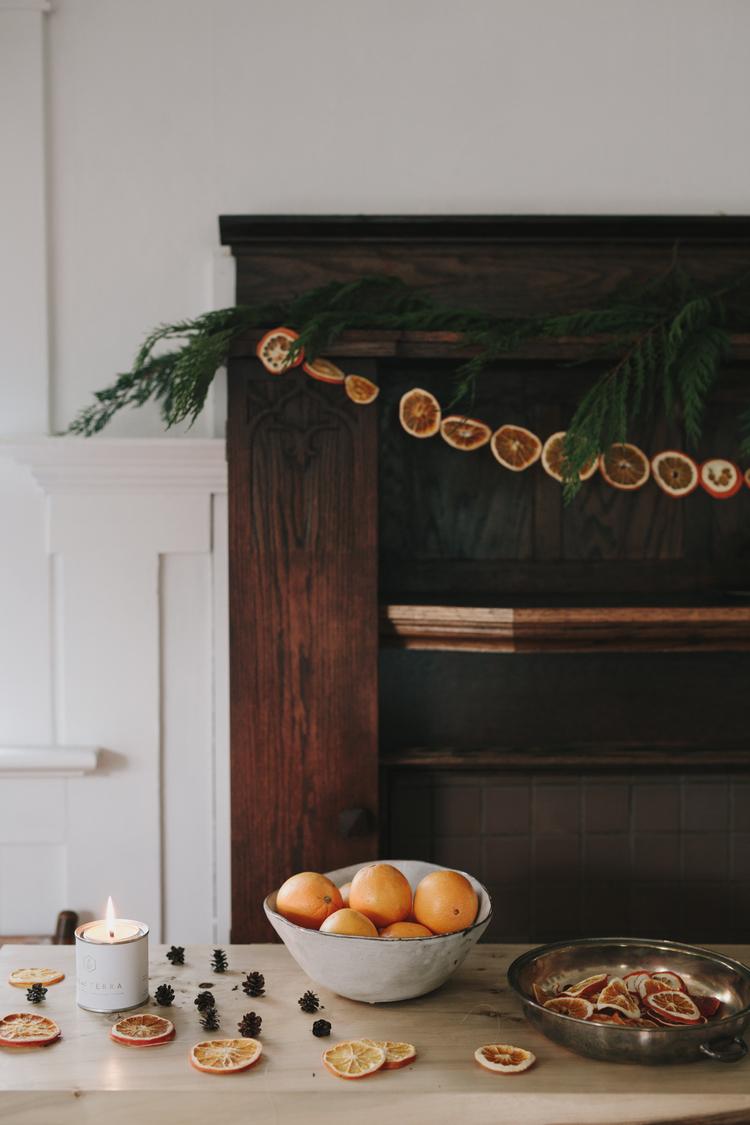 Χριστουγεννιάτικη διακόσμηση με πορτοκάλια4