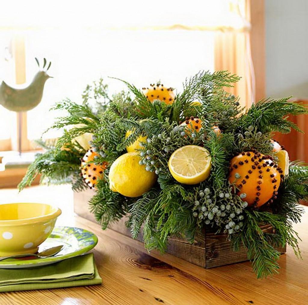 Χριστουγεννιάτικη διακόσμηση με πορτοκάλια5