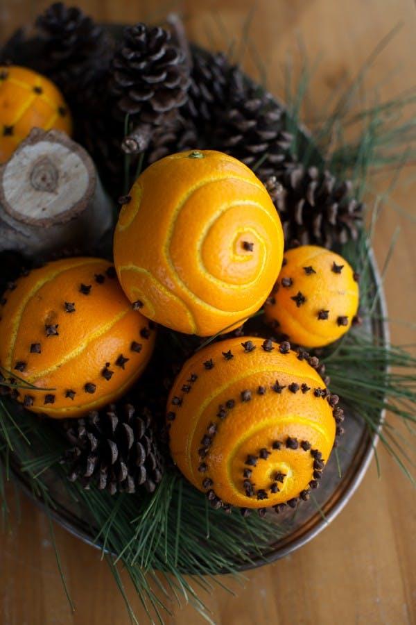 Χριστουγεννιάτικη διακόσμηση με πορτοκάλια8