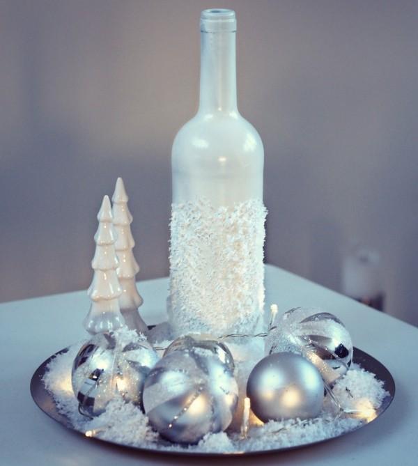 DIY Χριστουγεννιάτικη διακόσμηση από γυάλινα μπουκάλια10