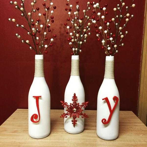 DIY Χριστουγεννιάτικη διακόσμηση από γυάλινα μπουκάλια14