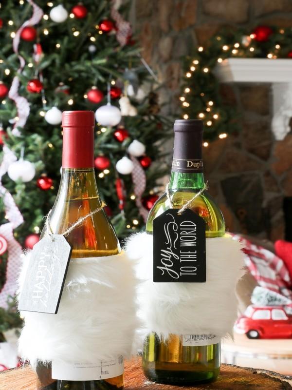 DIY Χριστουγεννιάτικη διακόσμηση από γυάλινα μπουκάλια16