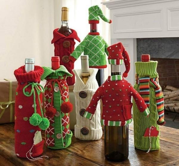 DIY Χριστουγεννιάτικη διακόσμηση από γυάλινα μπουκάλια18