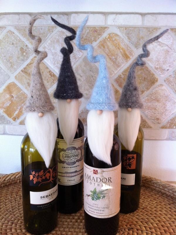DIY Χριστουγεννιάτικη διακόσμηση από γυάλινα μπουκάλια19