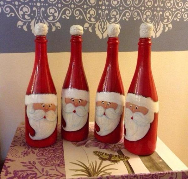 DIY Χριστουγεννιάτικη διακόσμηση από γυάλινα μπουκάλια2