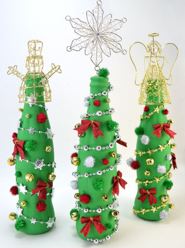 DIY Χριστουγεννιάτικη διακόσμηση από γυάλινα μπουκάλια23