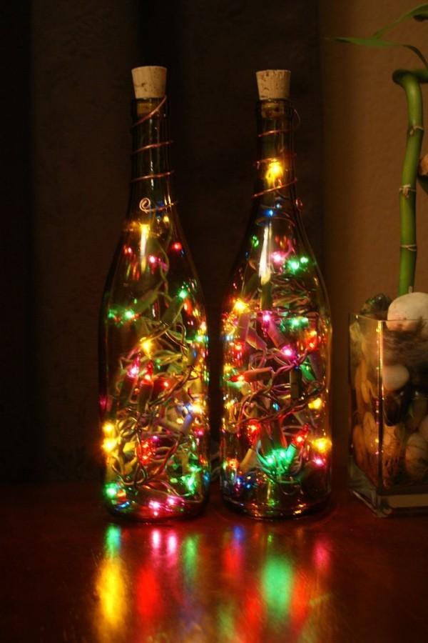DIY Χριστουγεννιάτικη διακόσμηση από γυάλινα μπουκάλια6