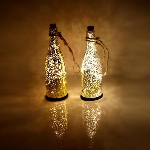 DIY Χριστουγεννιάτικη διακόσμηση από γυάλινα μπουκάλια7