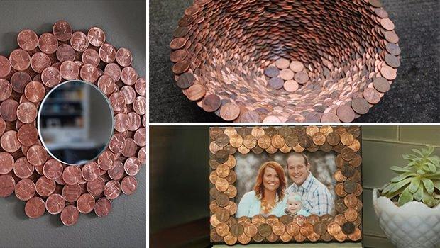 DIY έργα διακόσμησης από μικρό νομίσματα