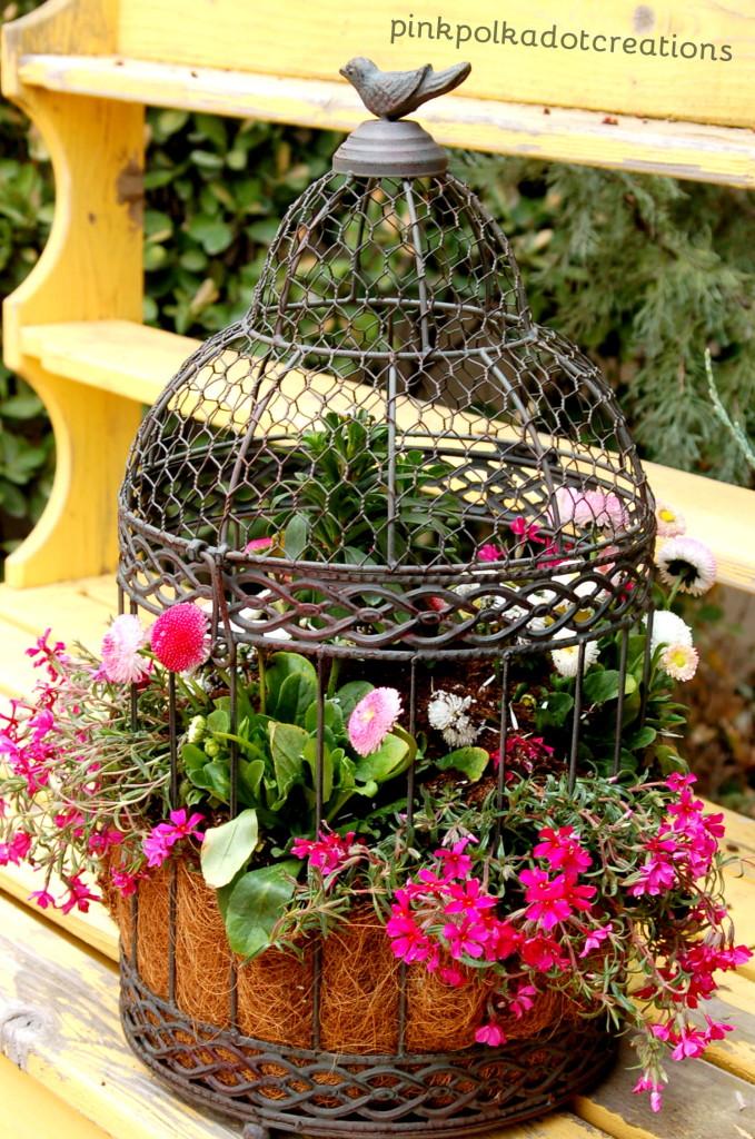 Κλουβιά πουλιών σαν γλάστρες2