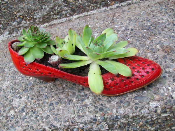γλαστρες από παλιά παπούτσια13