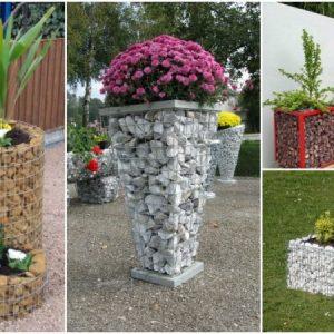 Φανταστικές γλάστρες σε συρματοκιβώτια για τον κήπο σας