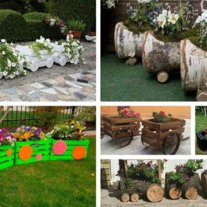 Δείτε εδώ πώς μπορείτε να μετατρέψετε τα ξύλινα καφάσια, κορμούς και πλαστικά μπουκάλια σε υπέροχες γλάστρες για τον κήπο
