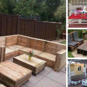 Ιδέες επίπλων από παλέτες για μια ευρύχωρη βεράντα ή κήπο