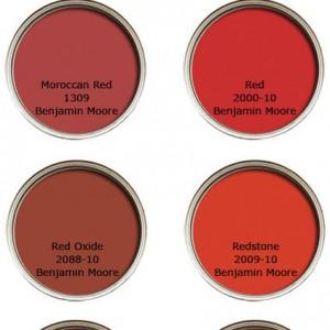 Κόκκινα χρωμάτα βαφής τοίχου: Οι Αγαπημένες επιλογές, των Σχεδιαστών