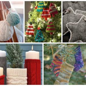 31 Χαριτωμένα και ζεστά, Πλεκτά Χριστουγεννιάτικα διακοσμητικά