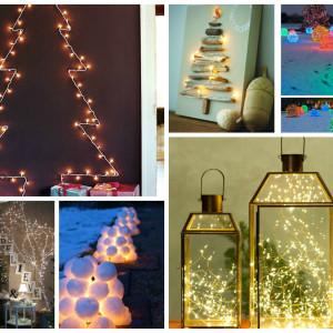 Χριστουγεννιάτικη Διακόσμηση με φωτάκια – 20 DIY ιδέες