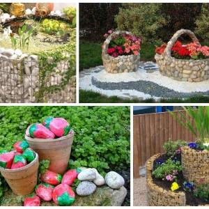 22 Εντυπωσιακές και φθηνές Ιδέες Διακόσμησης κήπου με βράχια και πέτρες