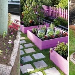 22 Απροσδόκητα Φοβερές Ιδέες για παρτεράκια στον Κήπο