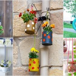 12 Καταπληκτικές DIY ιδέες για κρεμαστές γλάστρες στο σπίτι σας